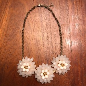 ModCloth Beaded Flower Statement Necklace & Druzy
